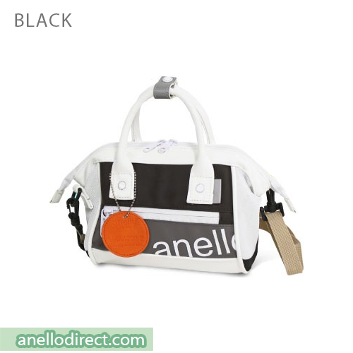 Anello 90's PU Leather 2 Way Shoulder Bag Handbag AT-B2792 Black Japan Original Official Authentic Real Genuine Bag Free Shipping Worldwide Special Discount Low Prices Great Offer
