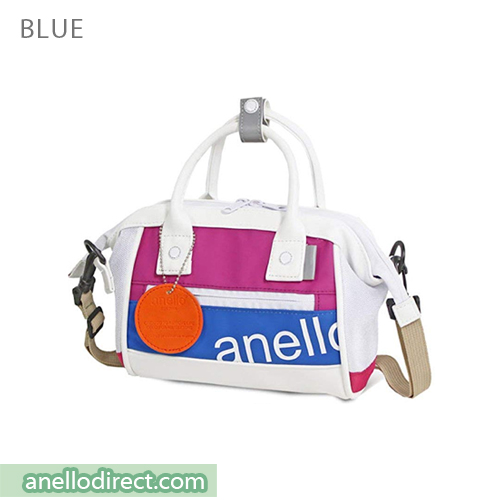 Anello 90's PU Leather 2 Way Shoulder Bag Handbag AT-B2792 Blue Japan Original Official Authentic Real Genuine Bag Free Shipping Worldwide Special Discount Low Prices Great Offer