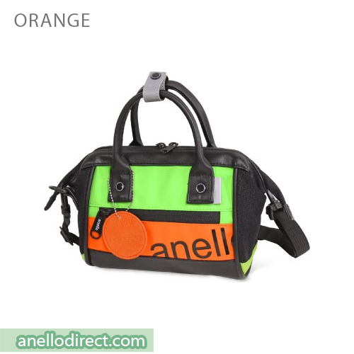 Anello 90's PU Leather 2 Way Shoulder Bag Handbag AT-B2792 Orange Japan Original Official Authentic Real Genuine Bag Free Shipping Worldwide Special Discount Low Prices Great Offer