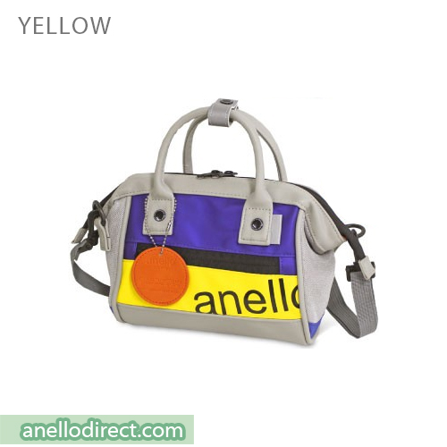 Anello 90's PU Leather 2 Way Shoulder Bag Handbag AT-B2792 Yellow Japan Original Official Authentic Real Genuine Bag Free Shipping Worldwide Special Discount Low Prices Great Offer