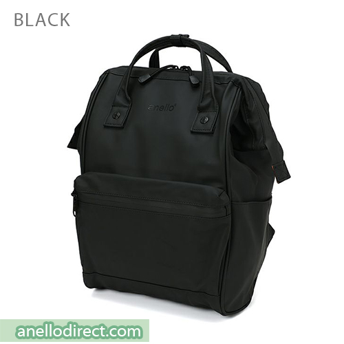 Anello Matt Rubber Base Waterproof Backpack Rucksack Regular Size AT-B2811 Black Japan Original Official Authentic Real Genuine Bag Free Shipping Worldwide Special Discount Low Prices Great Offer