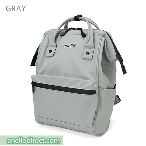 Anello Matt Rubber Base Waterproof Backpack Rucksack Regular Size AT-B2811 Gray Japan Original Official Authentic Real Genuine Bag Free Shipping Worldwide Special Discount Low Prices Great Offer