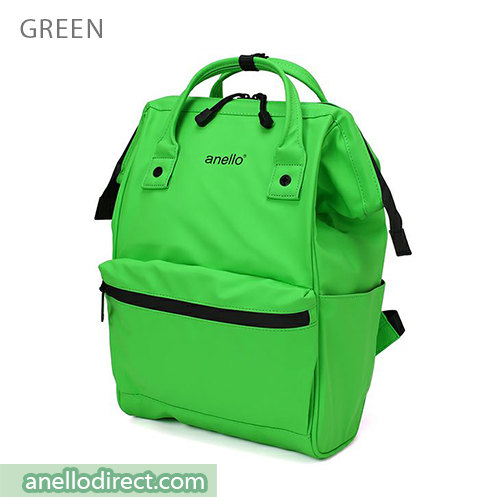 Anello Matt Rubber Base Waterproof Backpack Rucksack Regular Size AT-B2811 Green Japan Original Official Authentic Real Genuine Bag Free Shipping Worldwide Special Discount Low Prices Great Offer