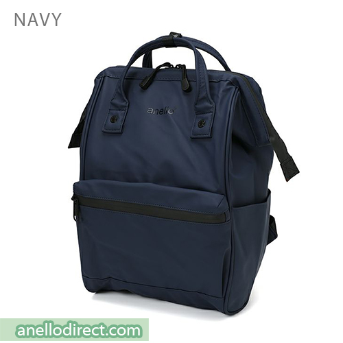 Anello Matt Rubber Base Waterproof Backpack Rucksack Regular Size AT-B2811 Navy Japan Original Official Authentic Real Genuine Bag Free Shipping Worldwide Special Discount Low Prices Great Offer