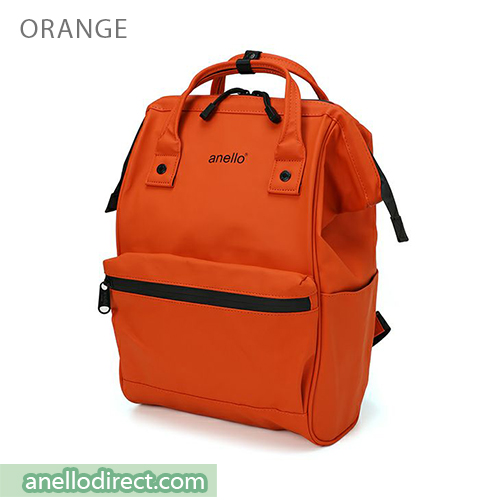 Anello Matt Rubber Base Waterproof Backpack Rucksack Regular Size AT-B2811 Orange Japan Original Official Authentic Real Genuine Bag Free Shipping Worldwide Special Discount Low Prices Great Offer