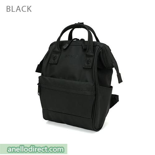 Anello Matt Rubber Base Waterproof Backpack Rucksack Mini Size AT-B2812 Black Japan Original Official Authentic Real Genuine Bag Free Shipping Worldwide Special Discount Low Prices Great Offer