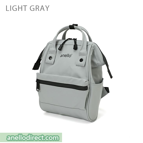 Anello Matt Rubber Base Waterproof Backpack Rucksack Mini Size AT-B2812 Gray Japan Original Official Authentic Real Genuine Bag Free Shipping Worldwide Special Discount Low Prices Great Offer