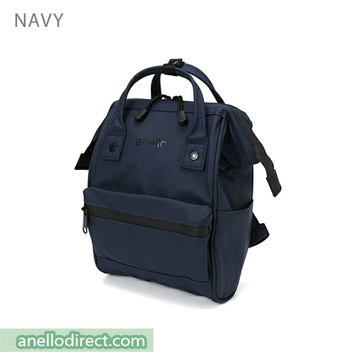 Anello Matt Rubber Base Waterproof Backpack Rucksack Mini Size AT-B2812 Navy Japan Original Official Authentic Real Genuine Bag Free Shipping Worldwide Special Discount Low Prices Great Offer