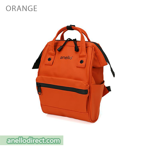 Anello Matt Rubber Base Waterproof Backpack Rucksack Mini Size AT-B2812 Orange Japan Original Official Authentic Real Genuine Bag Free Shipping Worldwide Special Discount Low Prices Great Offer