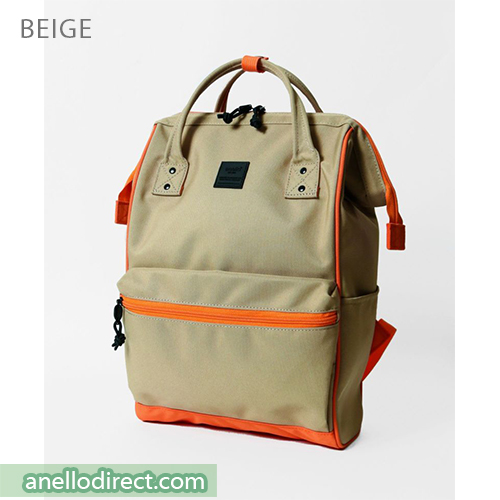 Anello N/C Polyester Classic Backpack Rucksack Regular Size AT-B3091 Beige Japan Original Official Authentic Real Genuine Bag Free Shipping Worldwide Special Discount Low Prices Great Offer
