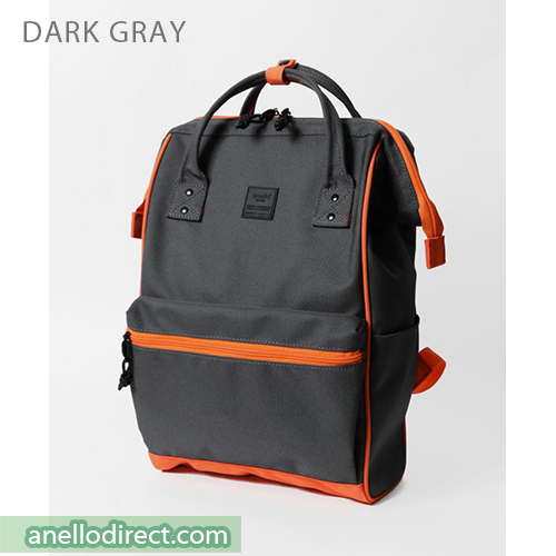 Anello N/C Polyester Classic Backpack Rucksack Regular Size AT-B3091 Dark Gray Japan Original Official Authentic Real Genuine Bag Free Shipping Worldwide Special Discount Low Prices Great Offer