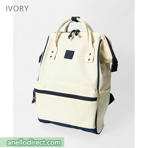 Anello N/C Polyester Classic Backpack Rucksack Regular Size AT-B3091 Ivory Japan Original Official Authentic Real Genuine Bag Free Shipping Worldwide Special Discount Low Prices Great Offer