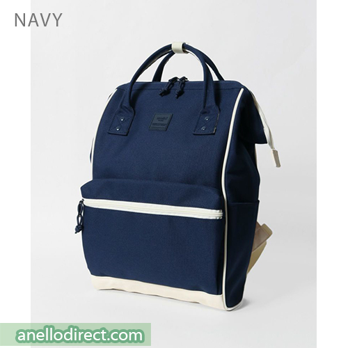 Anello N/C Polyester Classic Backpack Rucksack Regular Size AT-B3091 Navy Japan Original Official Authentic Real Genuine Bag Free Shipping Worldwide Special Discount Low Prices Great Offer