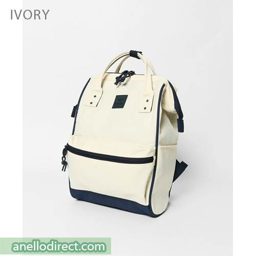 Anello N/C Polyester Classic Backpack Rucksack Mini Size AT-B3092 Ivory Japan Original Official Authentic Real Genuine Bag Free Shipping Worldwide Special Discount Low Prices Great Offer