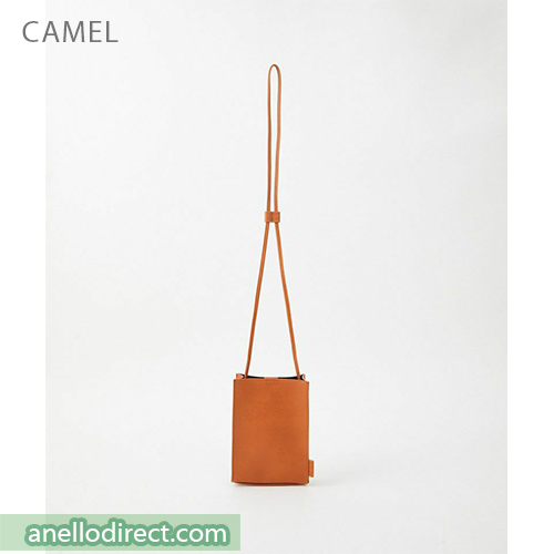 Anello ALTON PVC Mini Shoulder Bag AT-B3642 Camel Japan Original Official Authentic Real Genuine Bag Free Shipping Worldwide Special Discount Low Prices Great Offer