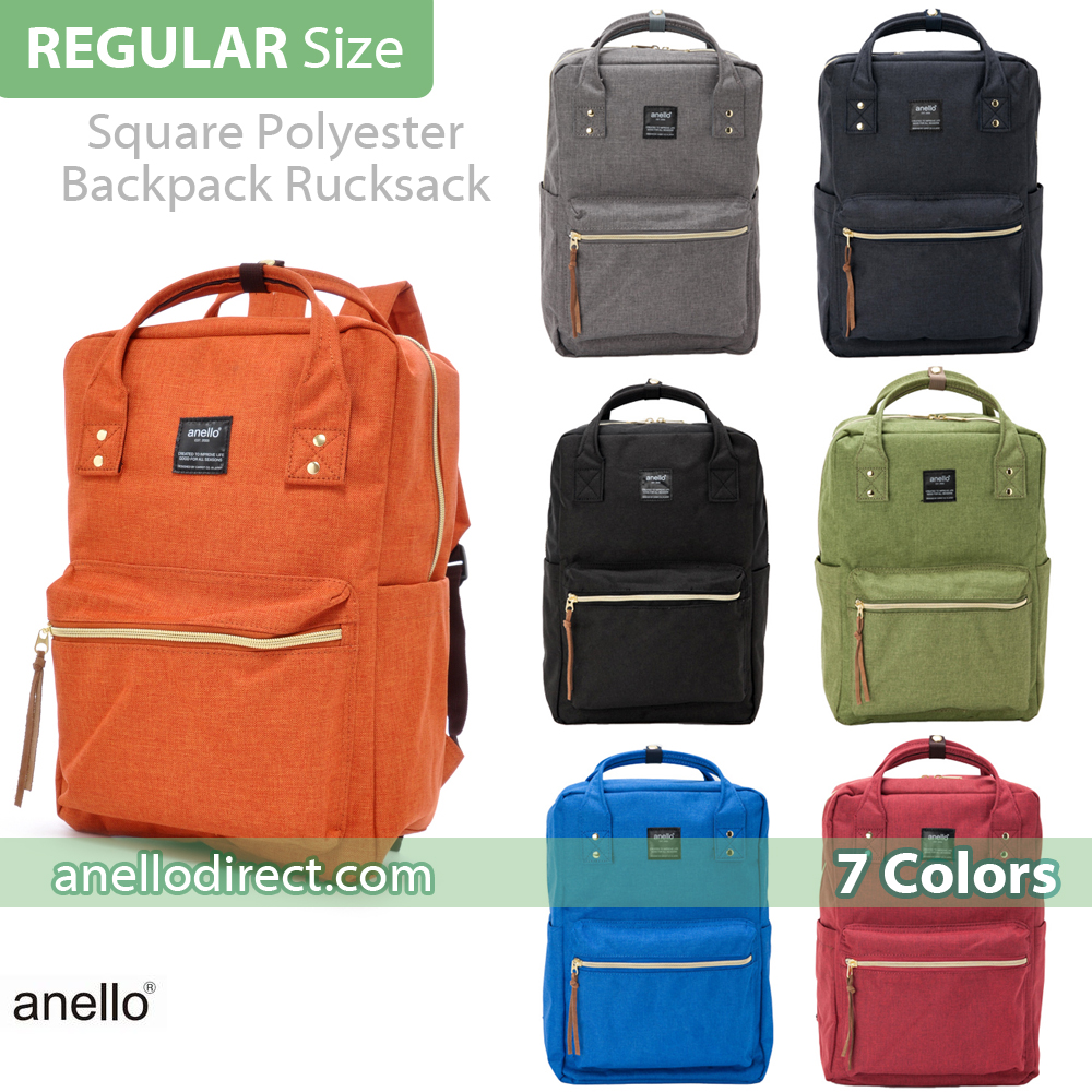 Anello Polyester Canvas Square Backpack Rucksack AT-C1221 b345924cd54fa