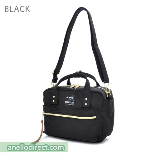 Anello Polyester Canvas Square 2 Way Shoulder Bag Mini Size AT-C1223 Black Japan Original Official Authentic Real Genuine Bag Free Shipping Worldwide Special Discount Low Prices Great Offer