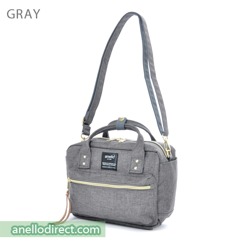 Anello Polyester Canvas Square 2 Way Shoulder Bag Mini Size AT-C1223 Gray Japan Original Official Authentic Real Genuine Bag Free Shipping Worldwide Special Discount Low Prices Great Offer