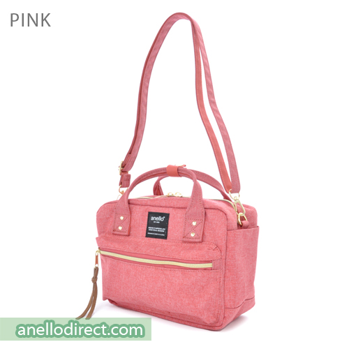 Anello Polyester Canvas Square 2 Way Shoulder Bag Mini Size AT-C1223 Pink Japan Original Official Authentic Real Genuine Bag Free Shipping Worldwide Special Discount Low Prices Great Offer
