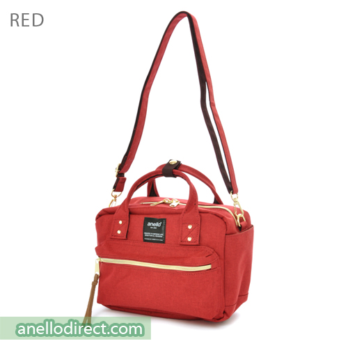 Anello Polyester Canvas Square 2 Way Shoulder Bag Mini Size AT-C1223 Red Japan Original Official Authentic Real Genuine Bag Free Shipping Worldwide Special Discount Low Prices Great Offer