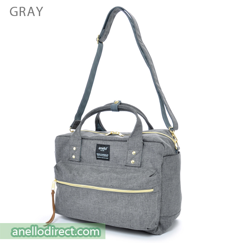 Anello Polyester Canvas Square 2 Way Shoulder Bag Regular Size AT-C1224 Gray Japan Original Official Authentic Real Genuine Bag Free Shipping Worldwide Special Discount Low Prices Great Offer