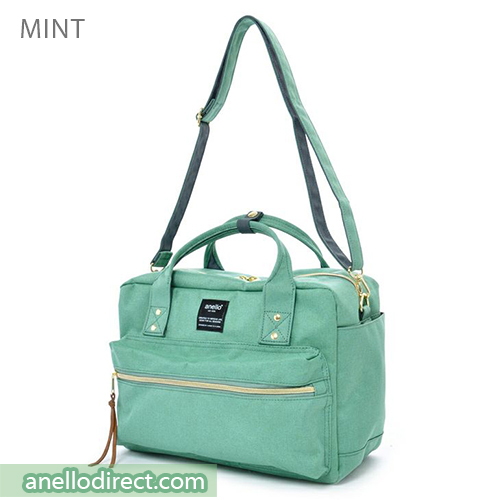 Anello Polyester Canvas Square 2 Way Shoulder Bag Regular Size AT-C1224 Mint Japan Original Official Authentic Real Genuine Bag Free Shipping Worldwide Special Discount Low Prices Great Offer