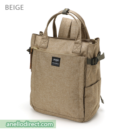Anello Polyester 10 Pocket  2 Way Tote Backpack Rucksack AT-C1225 Beige Japan Original Official Authentic Real Genuine Bag Free Shipping Worldwide Special Discount Low Prices Great Offer
