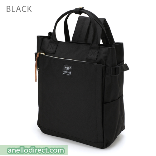 Anello Polyester 10 Pocket  2 Way Tote Backpack Rucksack AT-C1225 Black Japan Original Official Authentic Real Genuine Bag Free Shipping Worldwide Special Discount Low Prices Great Offer