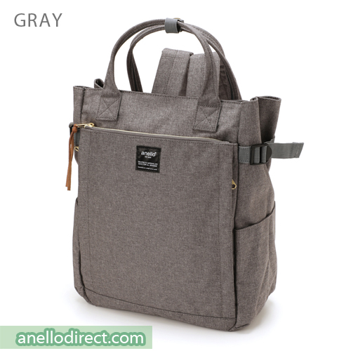Anello Polyester 10 Pocket  2 Way Tote Backpack Rucksack AT-C1225 Gray Japan Original Official Authentic Real Genuine Bag Free Shipping Worldwide Special Discount Low Prices Great Offer
