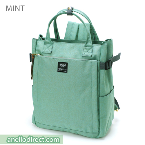 Anello Polyester 10 Pocket  2 Way Tote Backpack Rucksack AT-C1225 Mint Japan Original Official Authentic Real Genuine Bag Free Shipping Worldwide Special Discount Low Prices Great Offer
