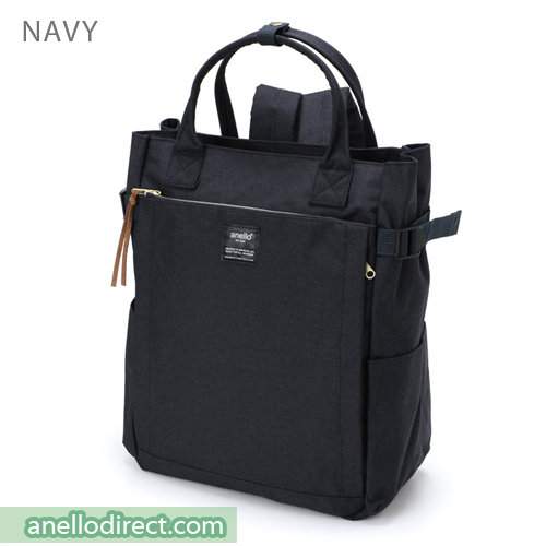 Anello Polyester 10 Pocket  2 Way Tote Backpack Rucksack AT-C1225 Navy Japan Original Official Authentic Real Genuine Bag Free Shipping Worldwide Special Discount Low Prices Great Offer