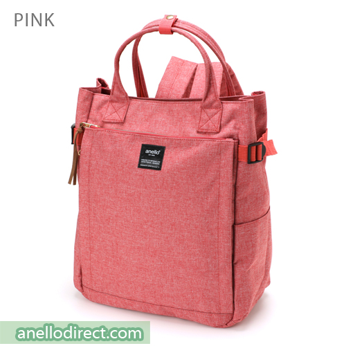 Anello Polyester 10 Pocket  2 Way Tote Backpack Rucksack AT-C1225 Pink Japan Original Official Authentic Real Genuine Bag Free Shipping Worldwide Special Discount Low Prices Great Offer