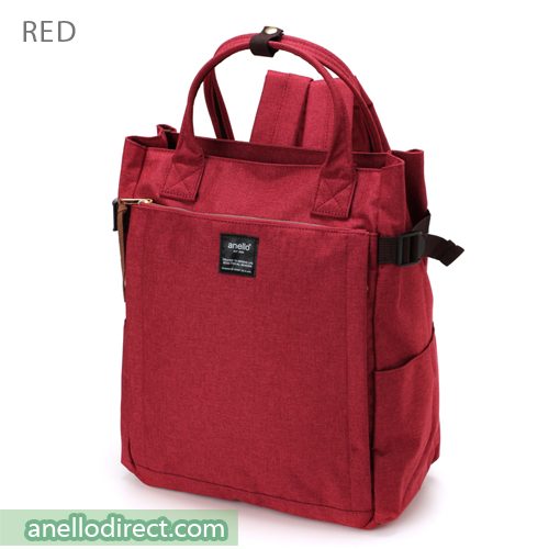 Anello Polyester 10 Pocket  2 Way Tote Backpack Rucksack AT-C1225 Red Japan Original Official Authentic Real Genuine Bag Free Shipping Worldwide Special Discount Low Prices Great Offer