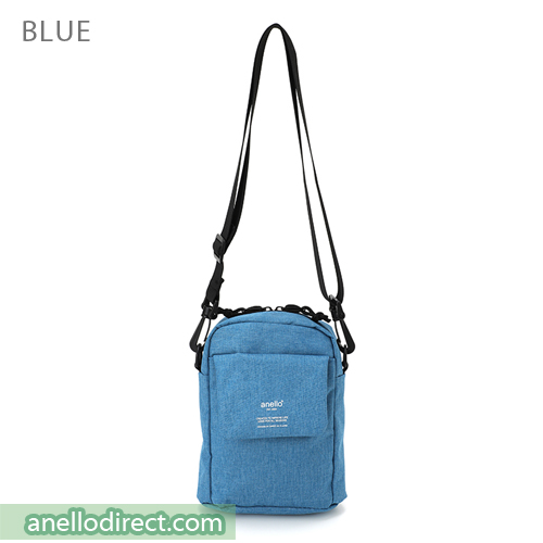 Anello Square Mini Polyester Shoulder Bag AT-C1834 Blue Japan Original Official Authentic Real Genuine Bag Free Shipping Worldwide Special Discount Low Prices Great Offer