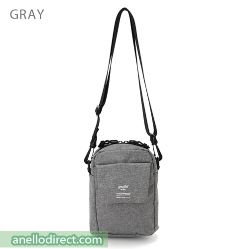 Anello Square Mini Polyester Shoulder Bag AT-C1834 Gray Japan Original Official Authentic Real Genuine Bag Free Shipping Worldwide Special Discount Low Prices Great Offer