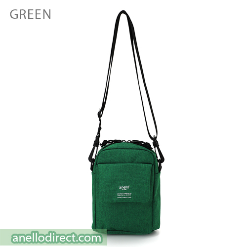 Anello Square Mini Polyester Shoulder Bag AT-C1834 Green Japan Original Official Authentic Real Genuine Bag Free Shipping Worldwide Special Discount Low Prices Great Offer