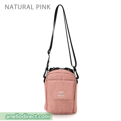 Anello Square Mini Polyester Shoulder Bag AT-C1834 Natural Pink Japan Original Official Authentic Real Genuine Bag Free Shipping Worldwide Special Discount Low Prices Great Offer