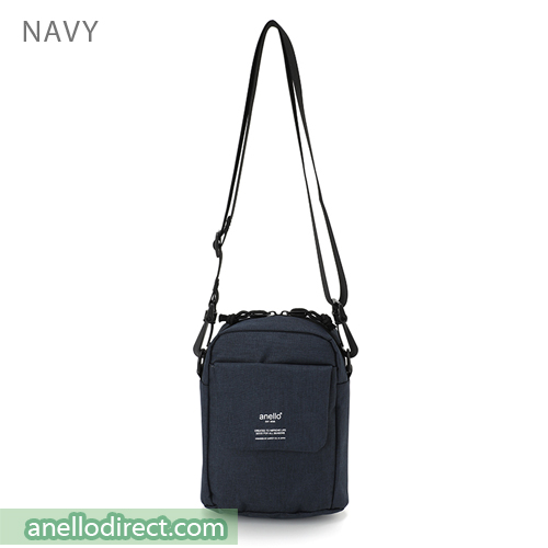 Anello Square Mini Polyester Shoulder Bag AT-C1834 Navy Japan Original Official Authentic Real Genuine Bag Free Shipping Worldwide Special Discount Low Prices Great Offer