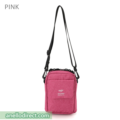 Anello Square Mini Polyester Shoulder Bag AT-C1834 Pink Japan Original Official Authentic Real Genuine Bag Free Shipping Worldwide Special Discount Low Prices Great Offer