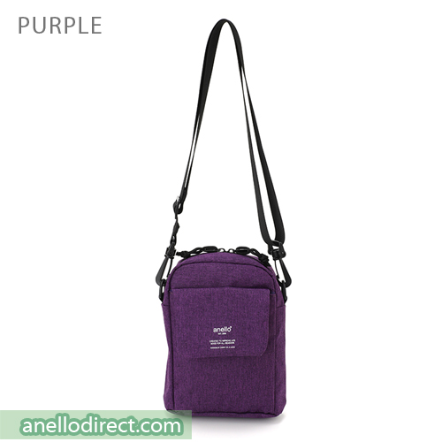 Anello Square Mini Polyester Shoulder Bag AT-C1834 Purple Japan Original Official Authentic Real Genuine Bag Free Shipping Worldwide Special Discount Low Prices Great Offer