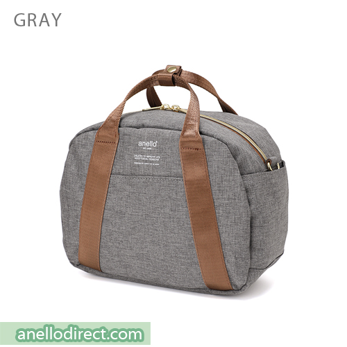 Anello Mottled Polyester Boston Shoulder Bag AT-C1835 Gray Japan Original Official Authentic Real Genuine Bag Free Shipping Worldwide Special Discount Low Prices Great Offer