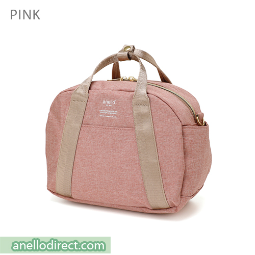 Anello Mottled Polyester Boston Shoulder Bag AT-C1835 Pink Japan Original Official Authentic Real Genuine Bag Free Shipping Worldwide Special Discount Low Prices Great Offer