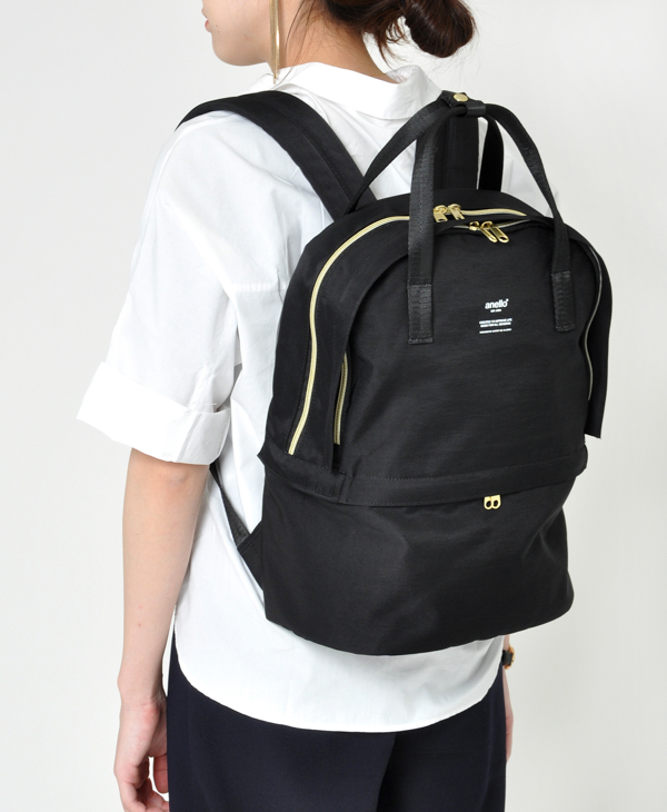 Japan Anello Two Layer Multi Function Backpack Rucksack AT-C1841 2