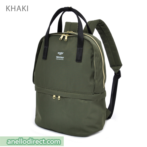 Anello Two Layer Multi Function Backpack Rucksack AT-C1841 Khaki Japan Original Official Authentic Real Genuine Bag Free Shipping Worldwide Special Discount Low Prices Great Offer