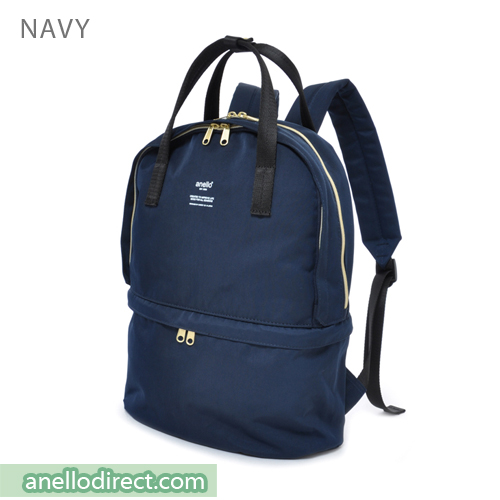 Anello Two Layer Multi Function Backpack Rucksack AT-C1841 Navy Japan Original Official Authentic Real Genuine Bag Free Shipping Worldwide Special Discount Low Prices Great Offer