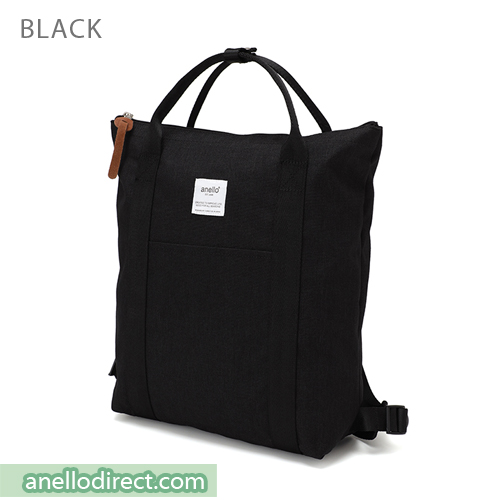 Anello Mottled Polyester 2 Way Tote Backpack Rucksack AT-C2244 Black Japan Original Official Authentic Real Genuine Bag Free Shipping Worldwide Special Discount Low Prices Great Offer