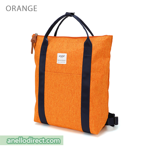 Anello Mottled Polyester 2 Way Tote Backpack Rucksack AT-C2244 Orange Japan Original Official Authentic Real Genuine Bag Free Shipping Worldwide Special Discount Low Prices Great Offer