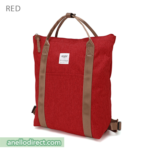 Anello Mottled Polyester 2 Way Tote Backpack Rucksack AT-C2244 Red Japan Original Official Authentic Real Genuine Bag Free Shipping Worldwide Special Discount Low Prices Great Offer