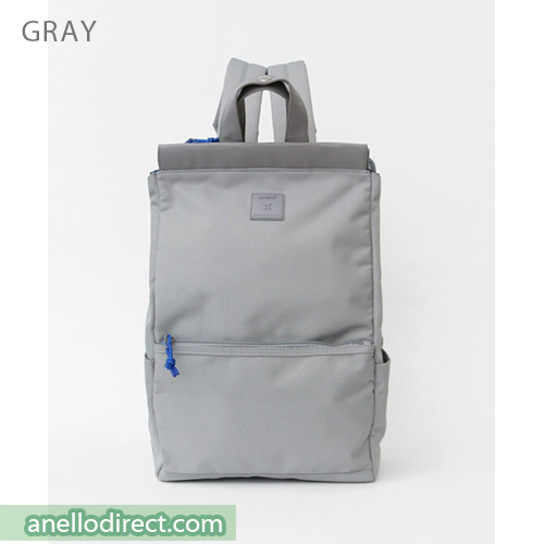 Anello Block Tote Polyester Backpack Rucksack AT-C2821 Gray Japan Original Official Authentic Real Genuine Bag Free Shipping Worldwide Special Discount Low Prices Great Offer