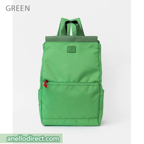 Anello Block Tote Polyester Backpack Rucksack AT-C2821 Green Japan Original Official Authentic Real Genuine Bag Free Shipping Worldwide Special Discount Low Prices Great Offer